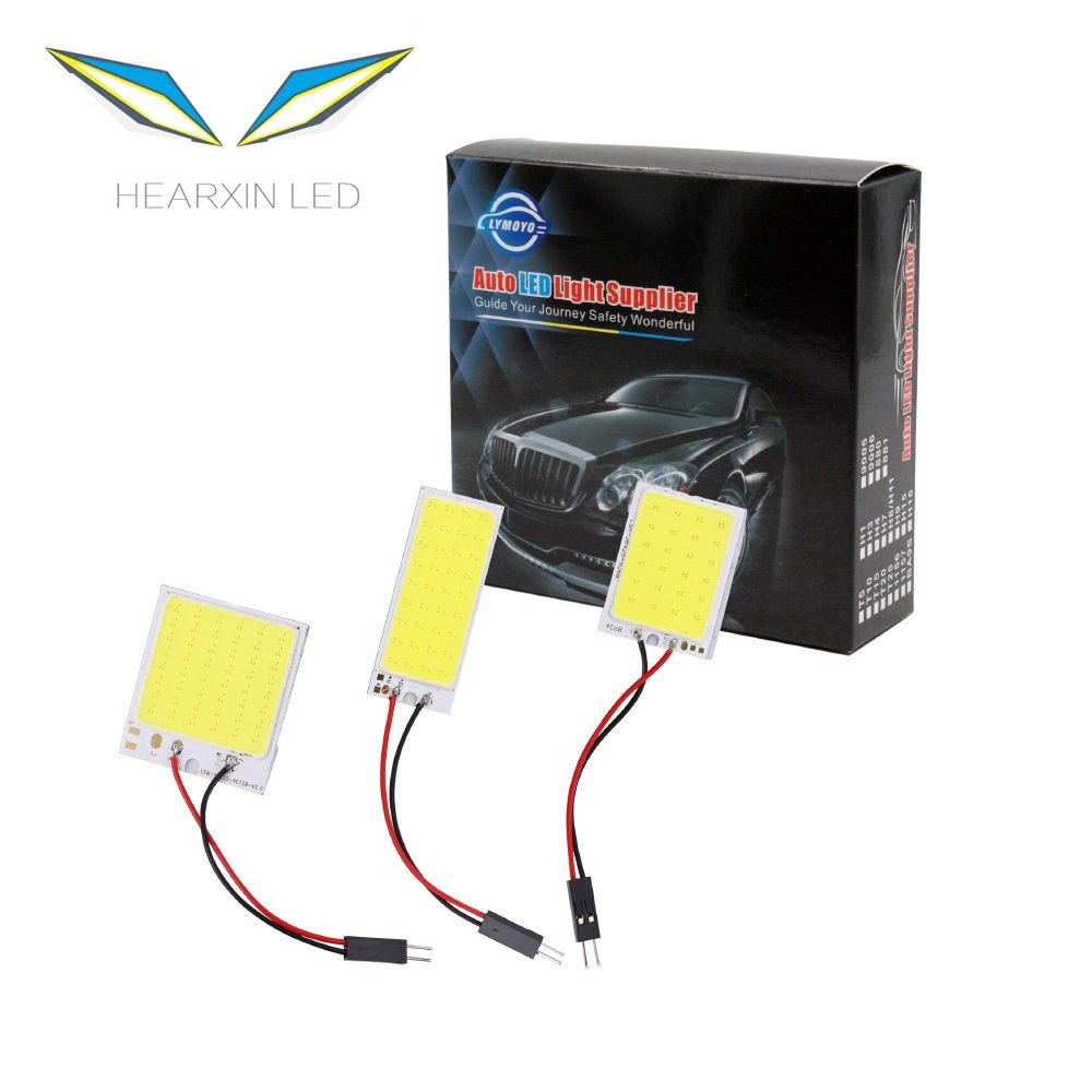 T10/Interior/Festoon Lights 16 24 36 48SMD dome motif BA9S 3 adapters LED light panel Car interior Map reading lamp DC12V