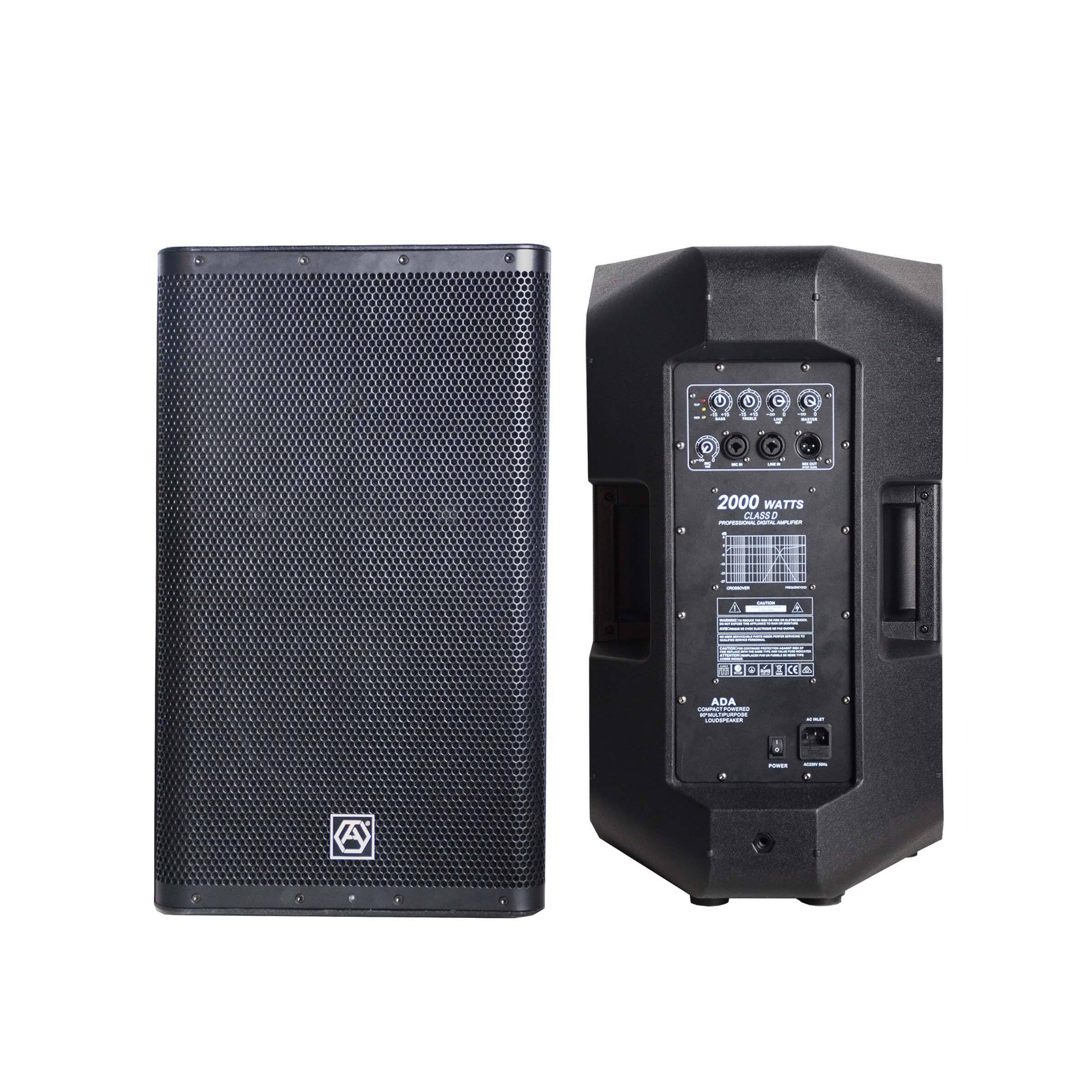 "Accuracy Pro Audio CAU15ADA New Design Professional 500W Powered Speaker 15"" Inch Active Digital Power Amplifier Speaker System"