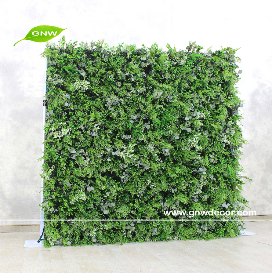GNW Green Wedding Supplies Decoration Artificial Plant Decorative Flower Backdrop Grass Wall Flowers