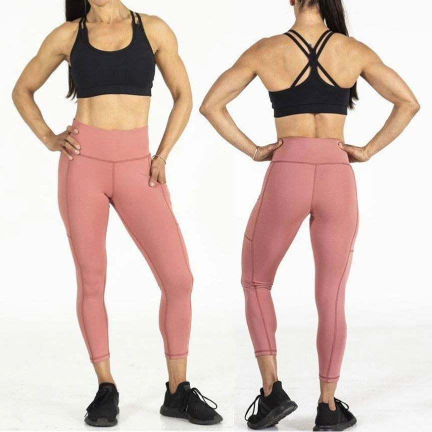 GI Wholesale leggings nylon Ribbed woven seamless yoga set compression leggings butt lift tights and top set