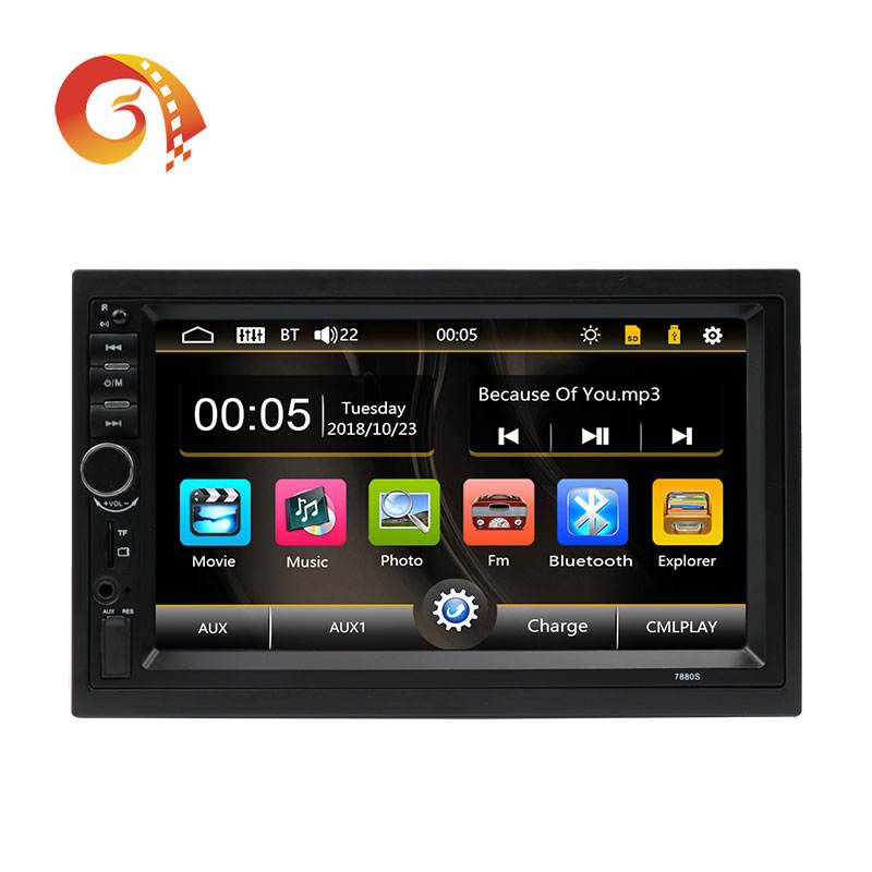 Universal Layar Sentuh 7 Inch Double 2 DIN Auto Navigasi Mp5 Video Radio Stereo Audio Mobil Dvd Player