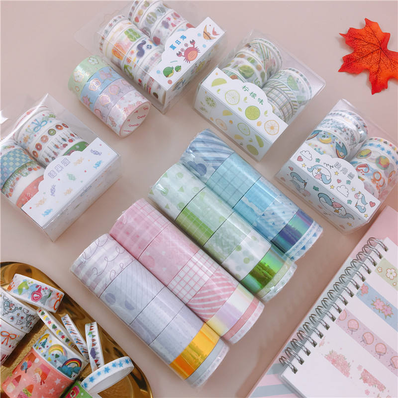Custom Print Colored Decoration Crepe Adhesive Paper Masking Washi Tapes