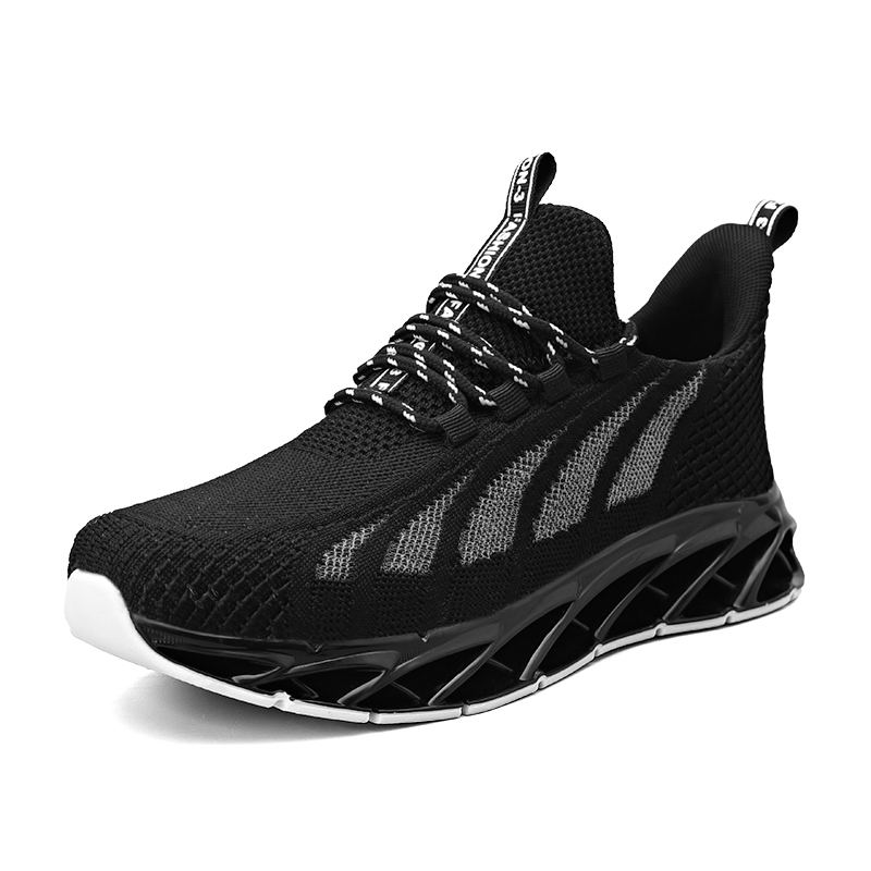 Hommes Sport Chaussures <span class=keywords><strong>De</strong></span> Course Mesh Respirent Confort Sport <span class=keywords><strong>Tennis</strong></span> Marche Athlétique Chaussure Runner Jogging Sneakers Noir