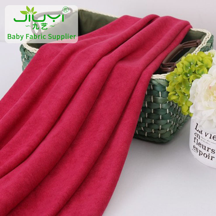 Stock weft gray and red microfiber towel 80 cotton 20 polyester velour towel fabric