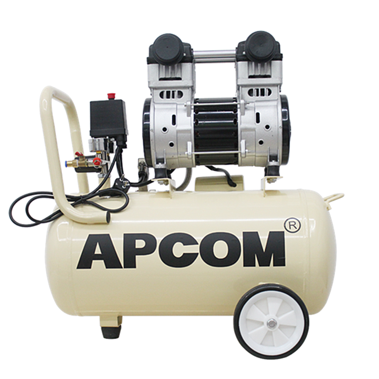 Low Noise Electric 1HP 2HP DC Direct Portable Mute Air-Compressors 3HP Silent Silence Oil Free Air Compressors With 50l Tank