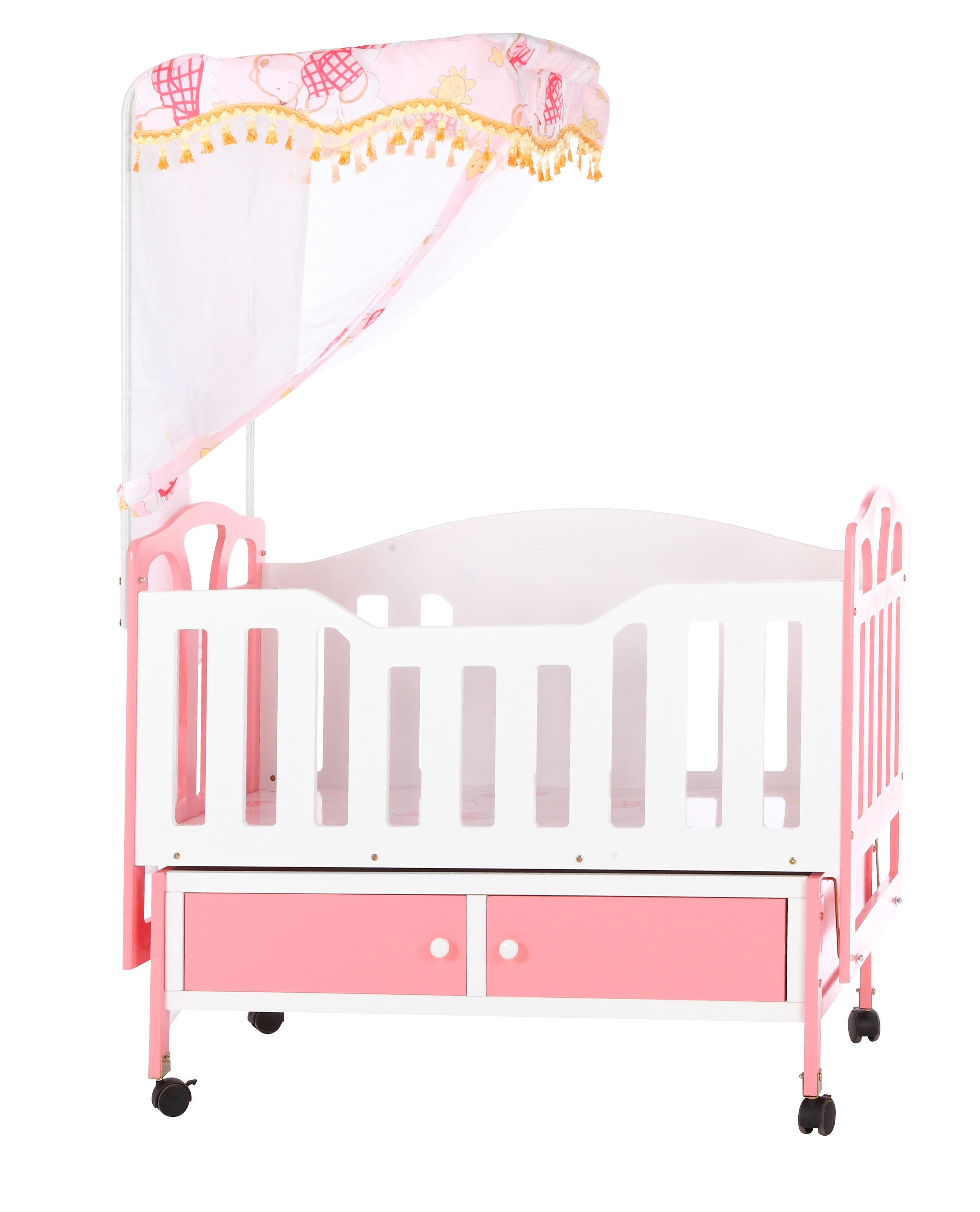 Baby Bed Metal Bamboo Foshan Cribs Pink Packing Color Material Suitable Origin Type Age Gua Size