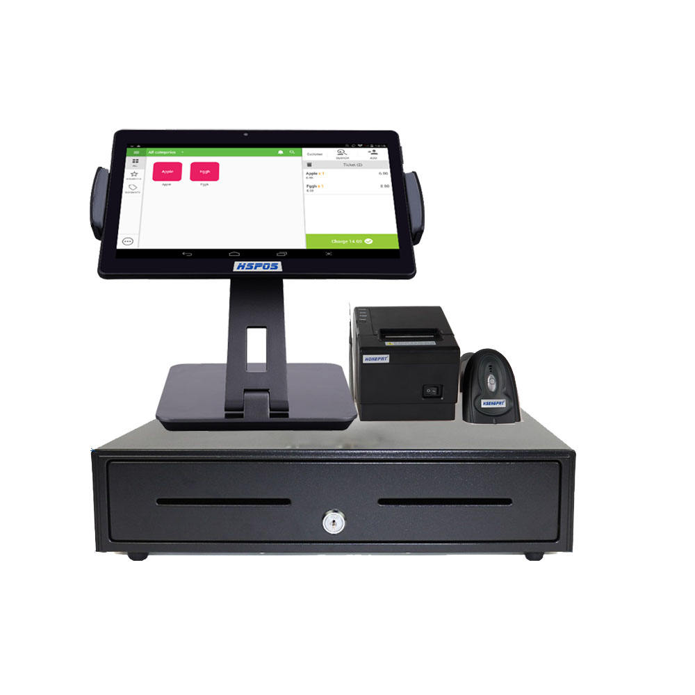 10 Inch Android Pos Tablet Android dengan Thermal Printer 80Mm Penerimaan Printer Scanner dan Pos Software