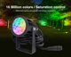 Landscape Lighting 6W Remote Control LED RGB CCT Color Landscape Lights with 24V Low Voltage with power,cable(3pack)