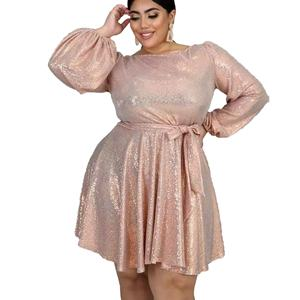 Mini Goud Jurk Pailletten Jurken Vrouwen Party Plus Size