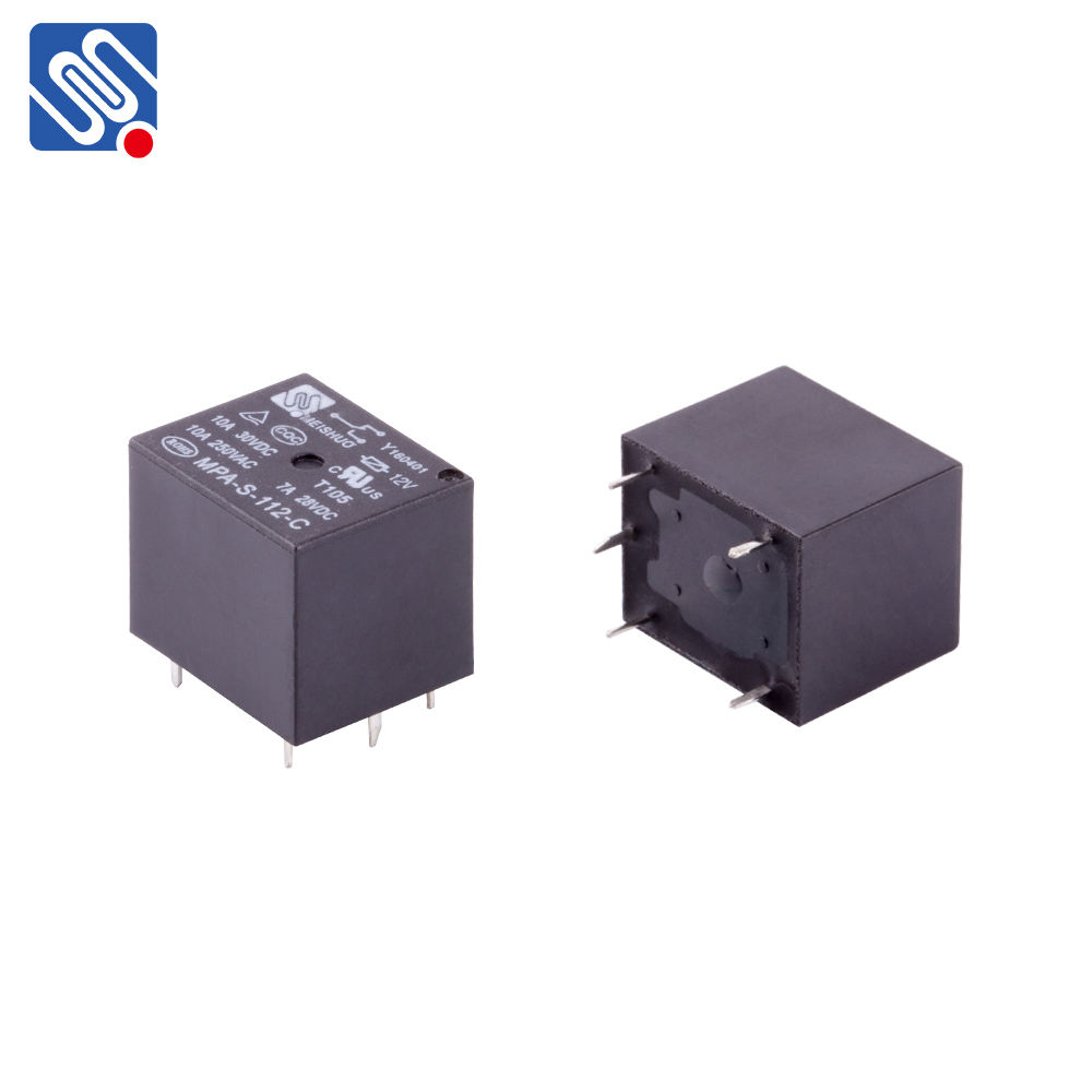 Meishuo MPA 12 volt 5VDC JQC-3F PCB T73 5A 7A 10A 250VAC mini electromagnetic power 24V 4pin relay