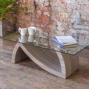 Living room furniture MDF wooden tea table design glass coffee table