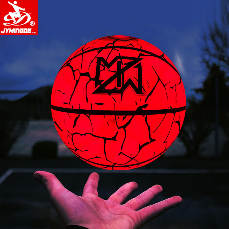LED light up glow in dark size 3 custom basketball for durable play