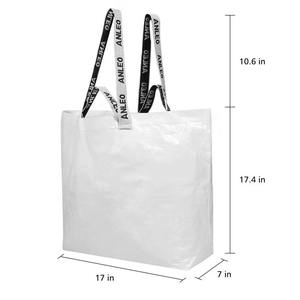 PP Woven tote bag RPET Coated Foldable Recyclable logo Printed Tote Shopping Bag