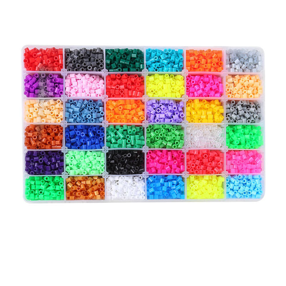 Fuse Beads Kit-10000 pcs 36 Colors(6 Glow in Dark) Storage Case Perler Beads Compatible Kit 5mm