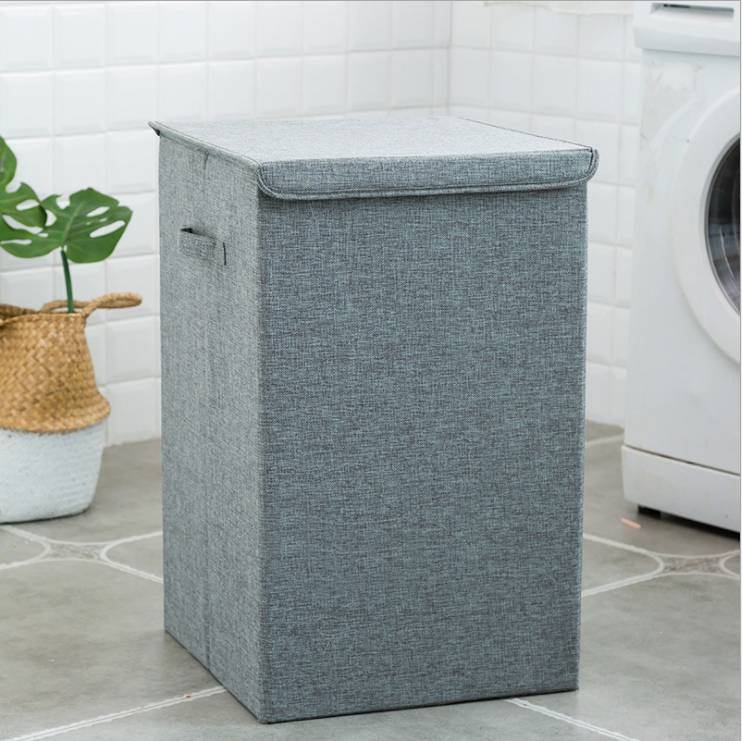 ECO- friendly Household Foldable Cotton Brief Laundry Baskets Box