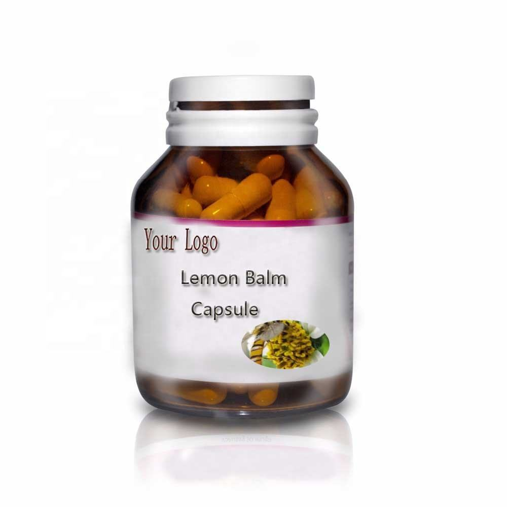 High Quality Relieve Anxiety Lemon Balm Capsule for Insomnia