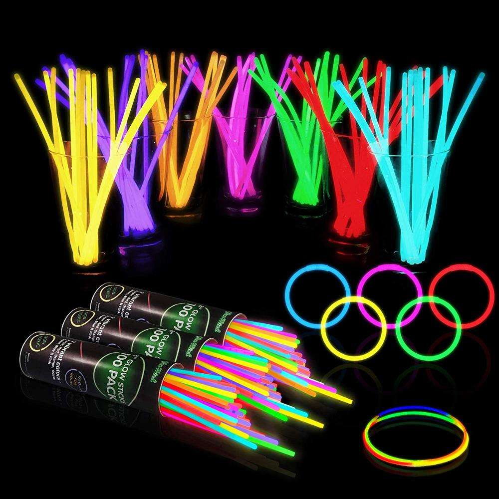 Party Sticks Glow Sticks Party Favors, Glow in The Dark Fun Light Sticks for Kids