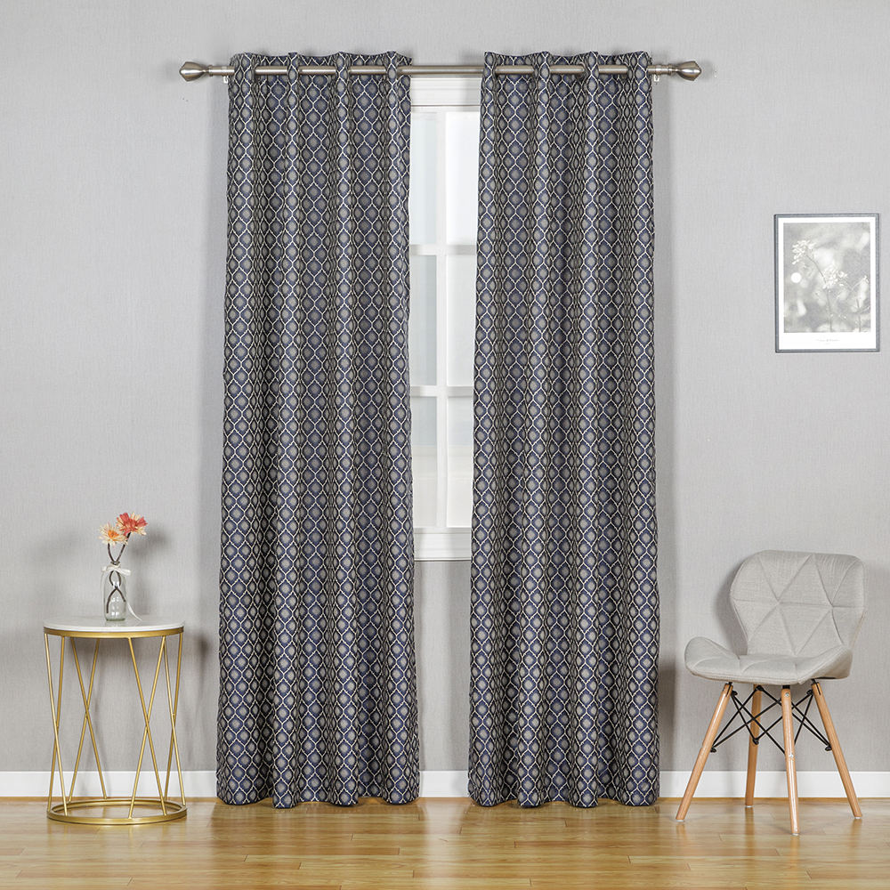 Wholesale home textile new jacquard clover trellis design curtains privacy protect grommet panels european curtains