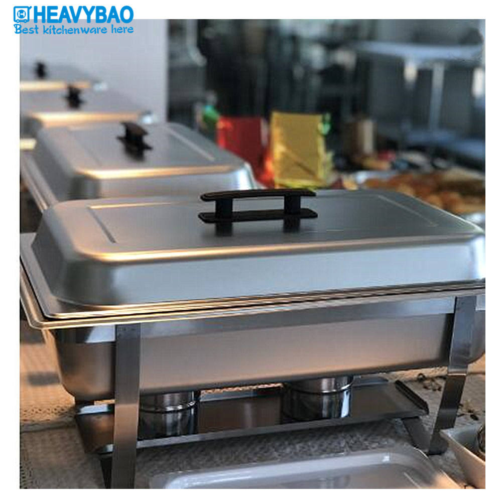 Heavybao Commercial Equipment Metal Buffet Stove Stainless Steel Chafing Dishes Buffet Set Food Warmer