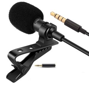Aomago Draagbare Externe Revers Mic Mini Lavalier Microfoon Voor Digitale Voice Recorders