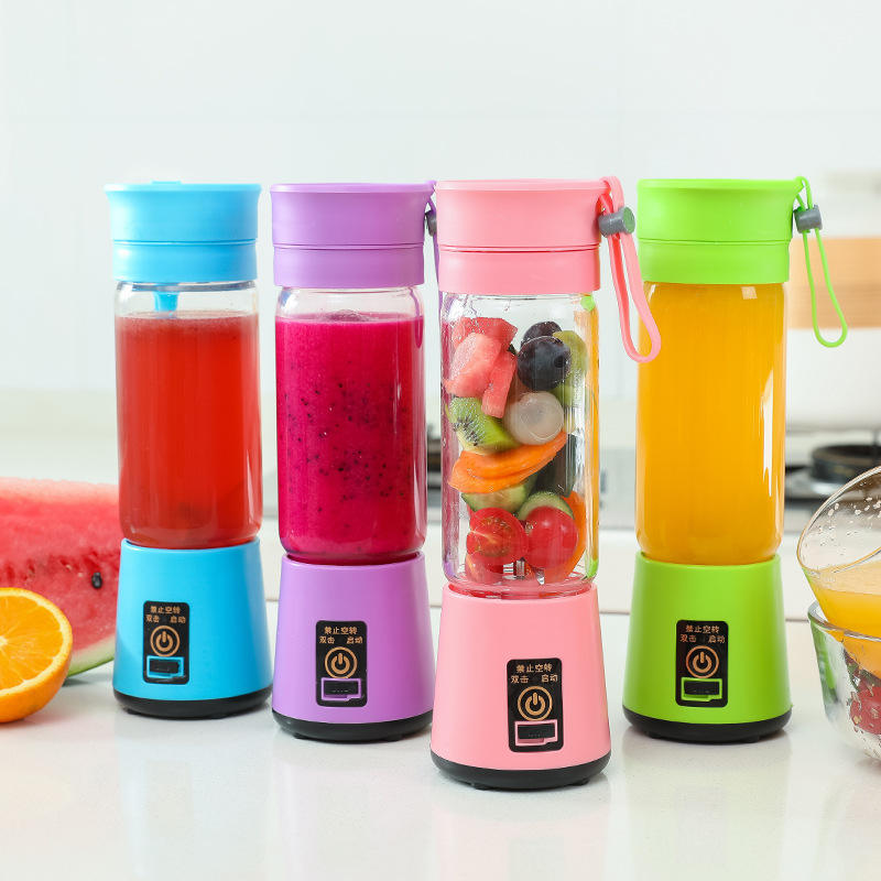 6 Blades Countertop mini USB Kitchen Battery Portable Personal hand bottle Fruit Juicer Blender with CE