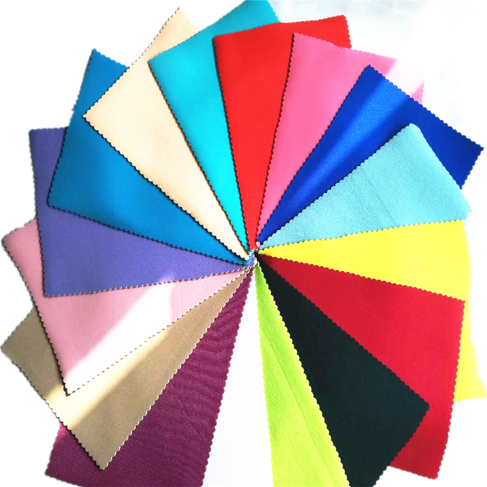 Jianbo neoprene mat fabric rubber sheet with two sides custom colored polyester