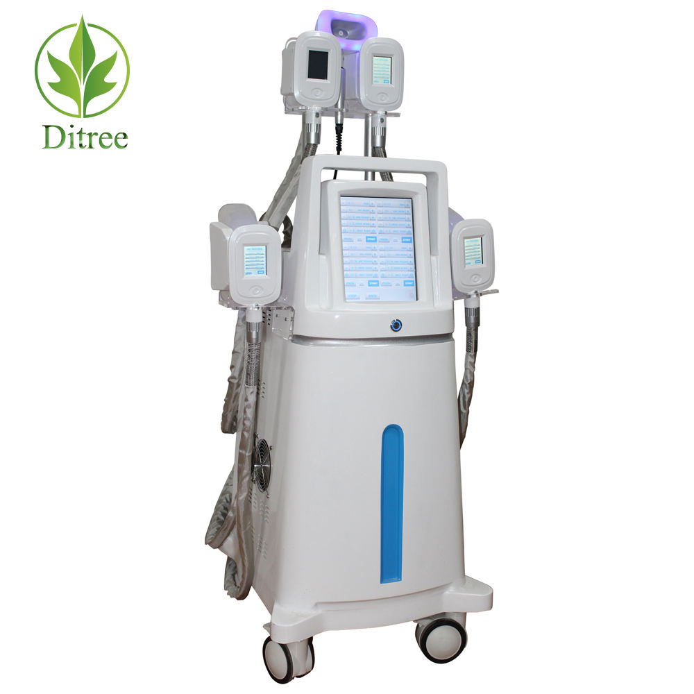 2020 Ditree Professional 5 Medical Silicone Cryo Handles 5S 360 Degrees Fat Cryo Double Chin Reduction Beauty Equipment