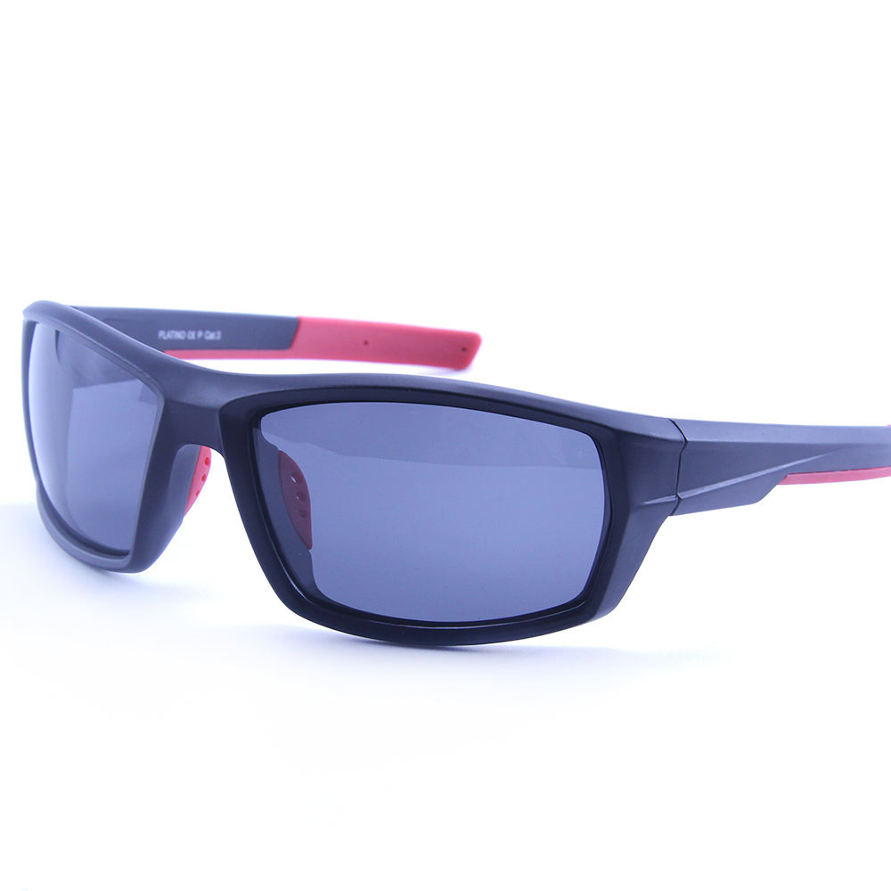 EUGENIA Rubber OEM Custom Polarized Lens Men Sports Cycling Sunglasses