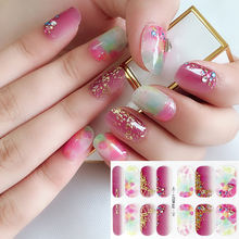 Gel Nail Sticker Stick Up Rhinestone & 3D Metallic Jewelry Nail Art Wraps High Glossy waterproof long lasting