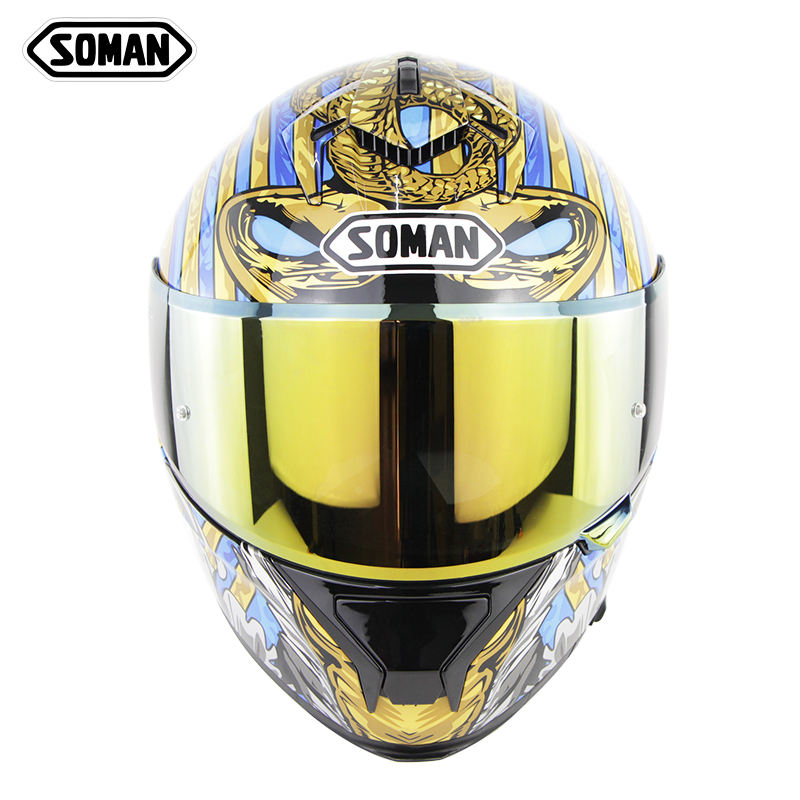 SOMAN full face motorcycle helmet ECE&DOT Approved SM961 dual lens safety Casco Flip up capacetes