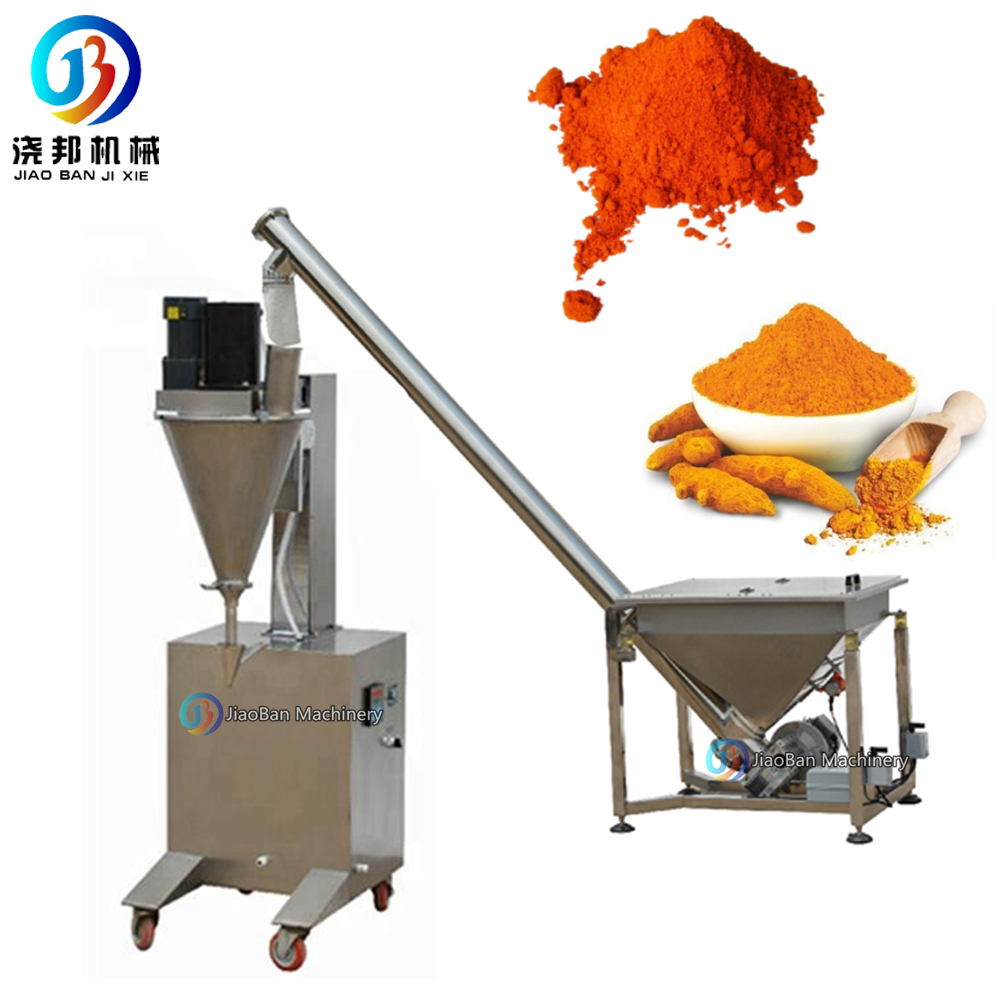 JB-BF semi-auto pepper powder/bean powder/spices weighing filling packing machine by auger