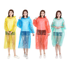 Rain Coat Waterproof Cheap Pe Adult Men's Transparent For Clear Yellow Poncho Custom Material Plastic Soat  Raincoat Disposablec