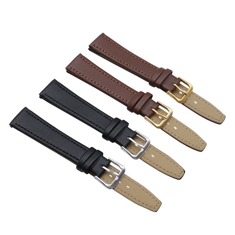 Assorted size long black brown cheap leather strap watches bands men and women PU leather watch straps