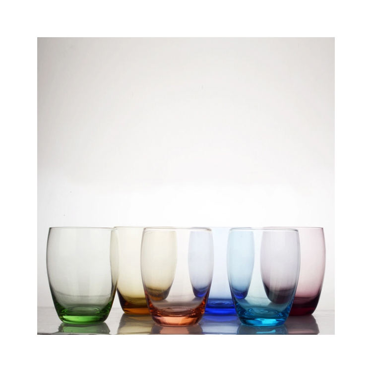 DOF glass wedding glass,barware colored glass tumblers,glass cups wholesale