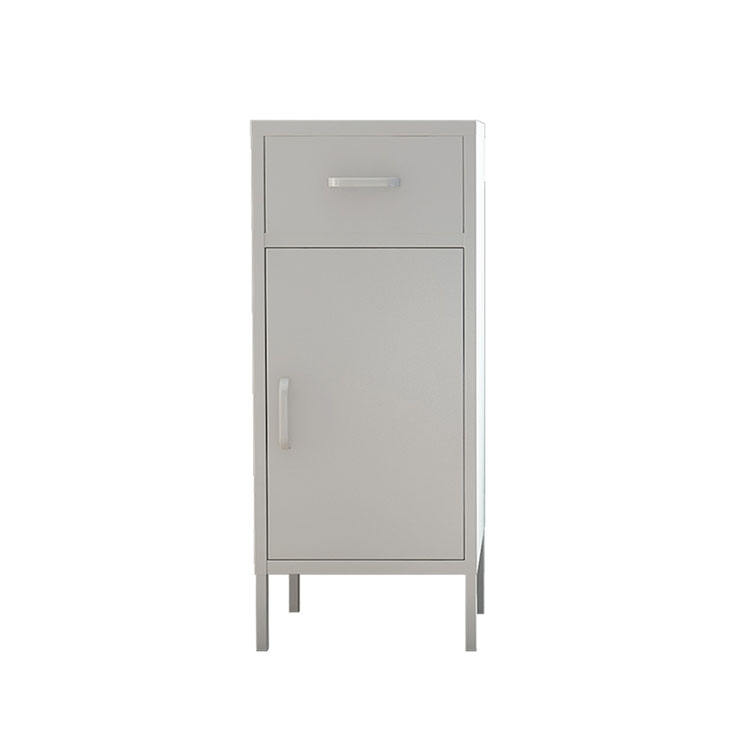 Simple Nordic Living Room White Chest Of Drawers Steel Lockable Bedside Storage Cabinet Cupboard