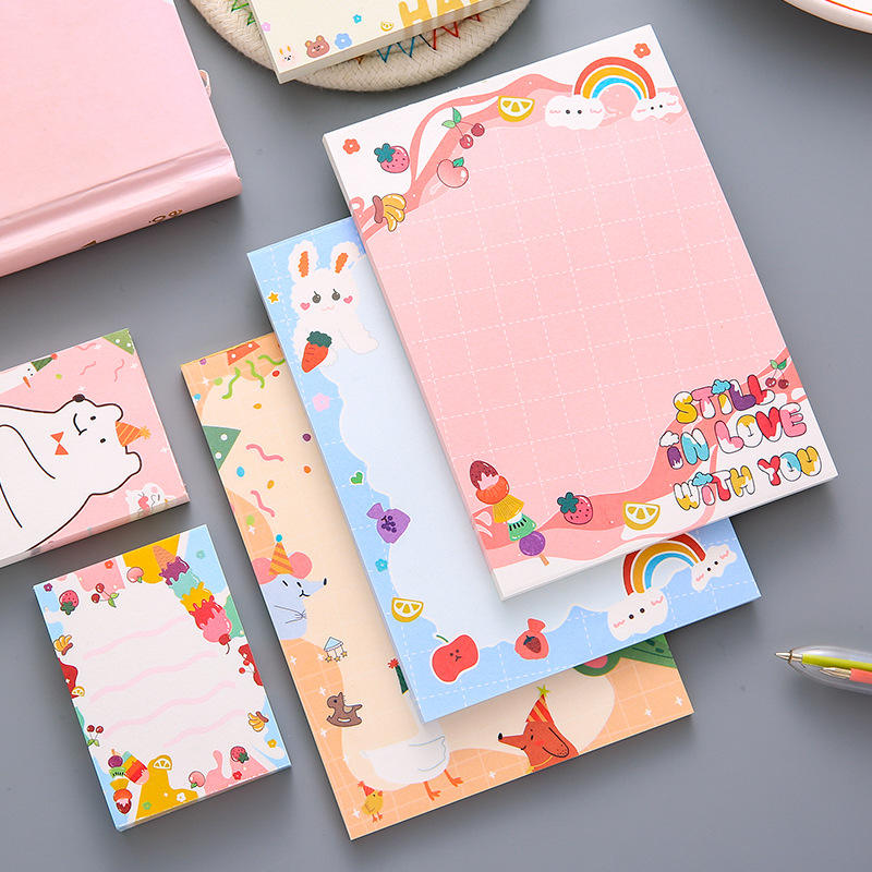 Custom Logo a6 Size Kawaii Notepad for School Kids Students