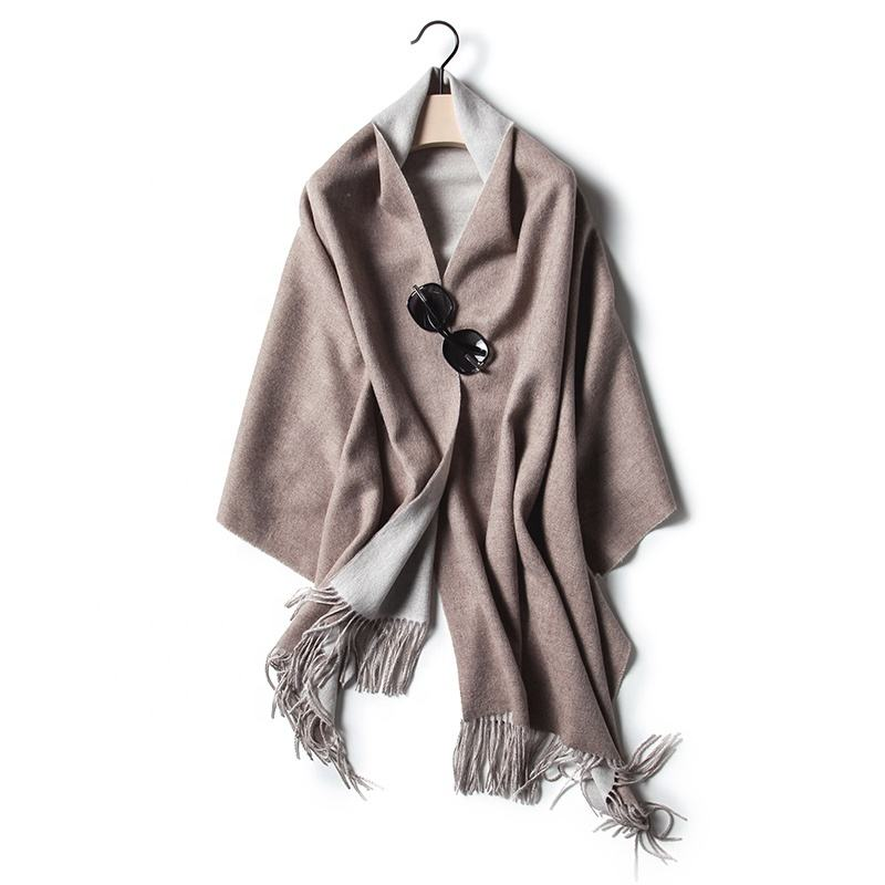 High Quality best-selling wool scarf shawl scarves double sided shawl