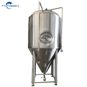 Commercial Brewery Stainless Steel Glycol Cooling Dimple Jacketed Conical Beer Fermenter Turnkey Project For Sale
