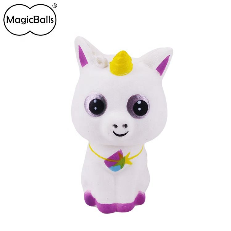 New Product Fanny Baby Style 50*47*93 mm Trendy Kawaii Jumbo Squishy Unicorn Slow Rising Animal Kids Toy