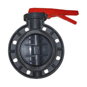 10years factory low cost handle epdm seat pvc grey lug butterfly valve