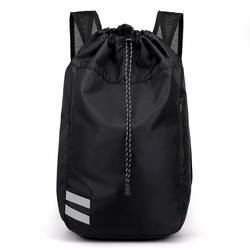 Custom High Quality Oxford Fabric Black Sports Drawstring Ba
