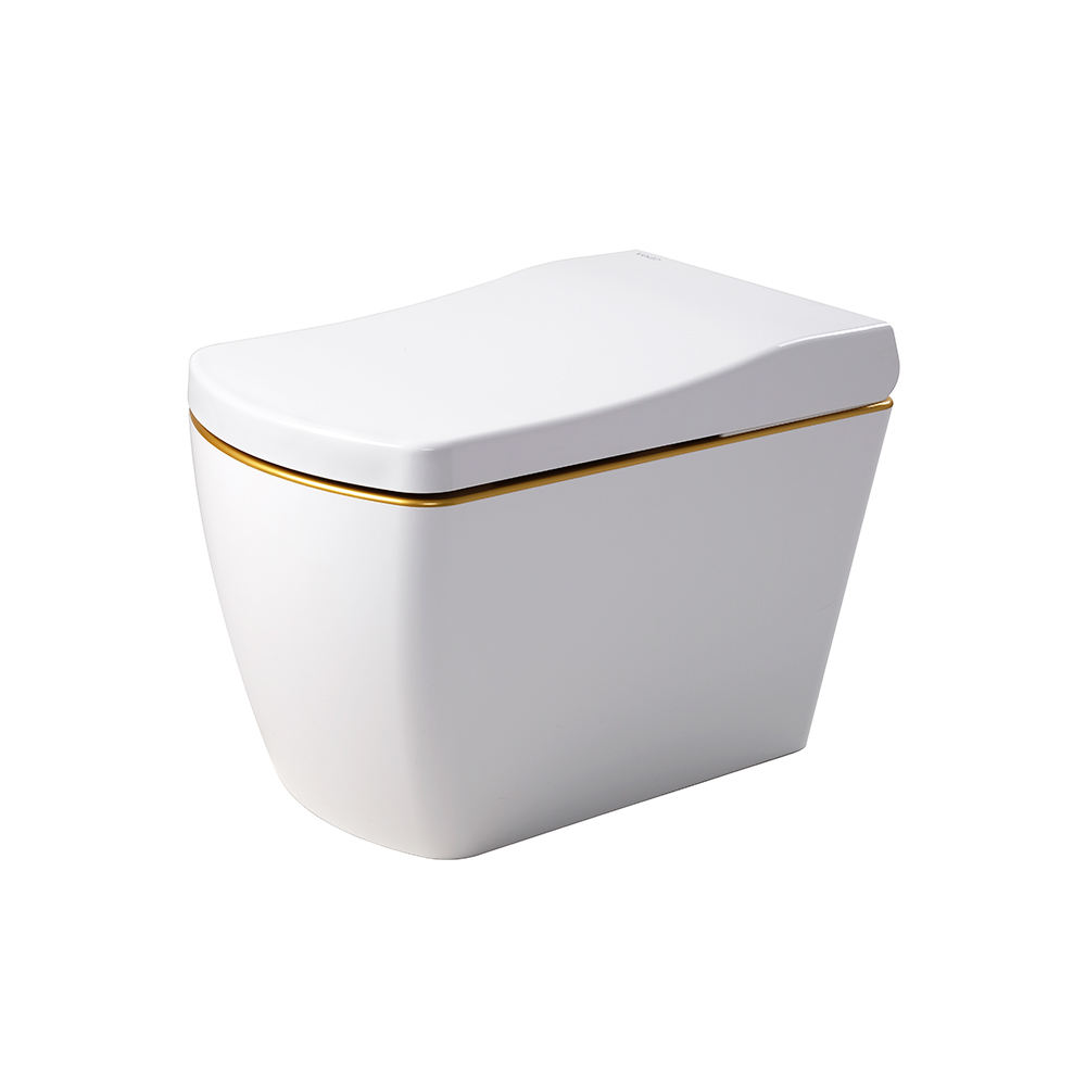 One piece intelligent smart gold automatic bidet toilets