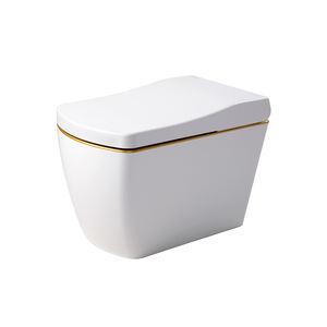 One piece intelligent smart gold automatic bidet toilets