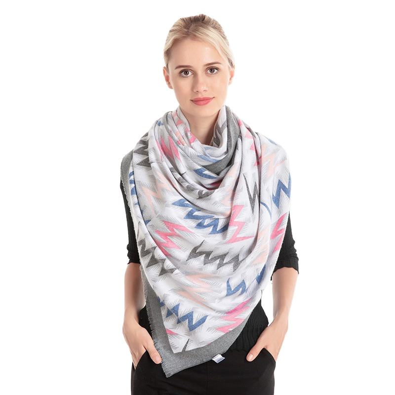 New Winter Ladies shawl thickened custom design 30%Wool 70%Cashmere scarf for women stylish