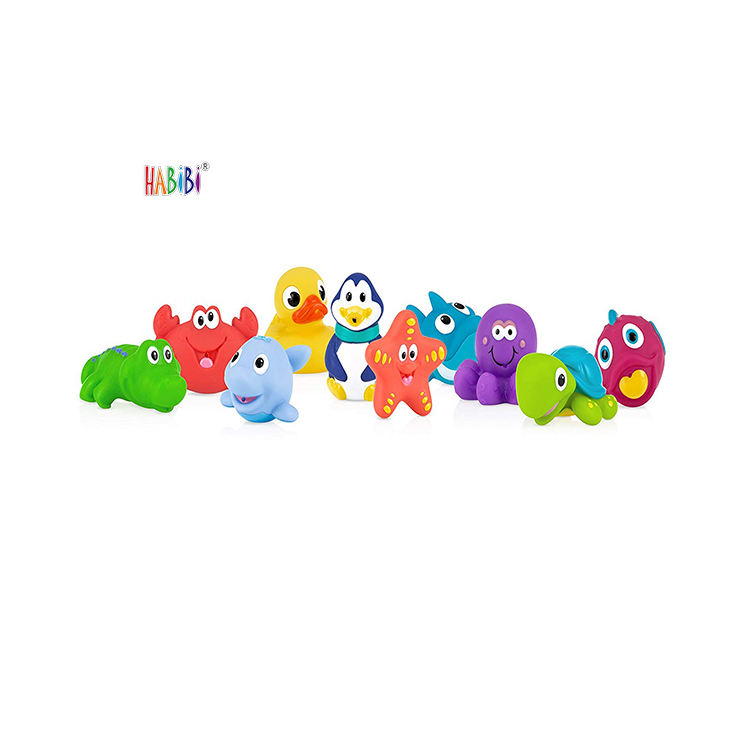 Child Rubber Squirt Water Bath Toys Educational Lovely Animal Toys for Bath