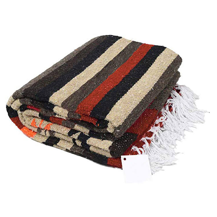 fluffy soft outdoor picnic extra large bulk handwoven animal mexican blanket