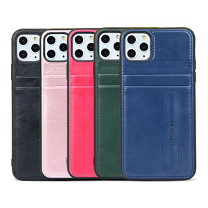 New Arrivals Mobile Phone Accessories PU Leather Back Cover Cell Phone Case Supporter Caover for iPhone 11 Pro Max