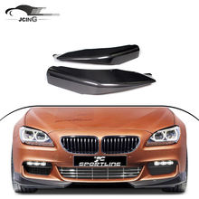 Carbon fiber A style front lip aprons fit for BMW F06 F12 F13 6 series MTECH ( fit for MTECH bumper only)