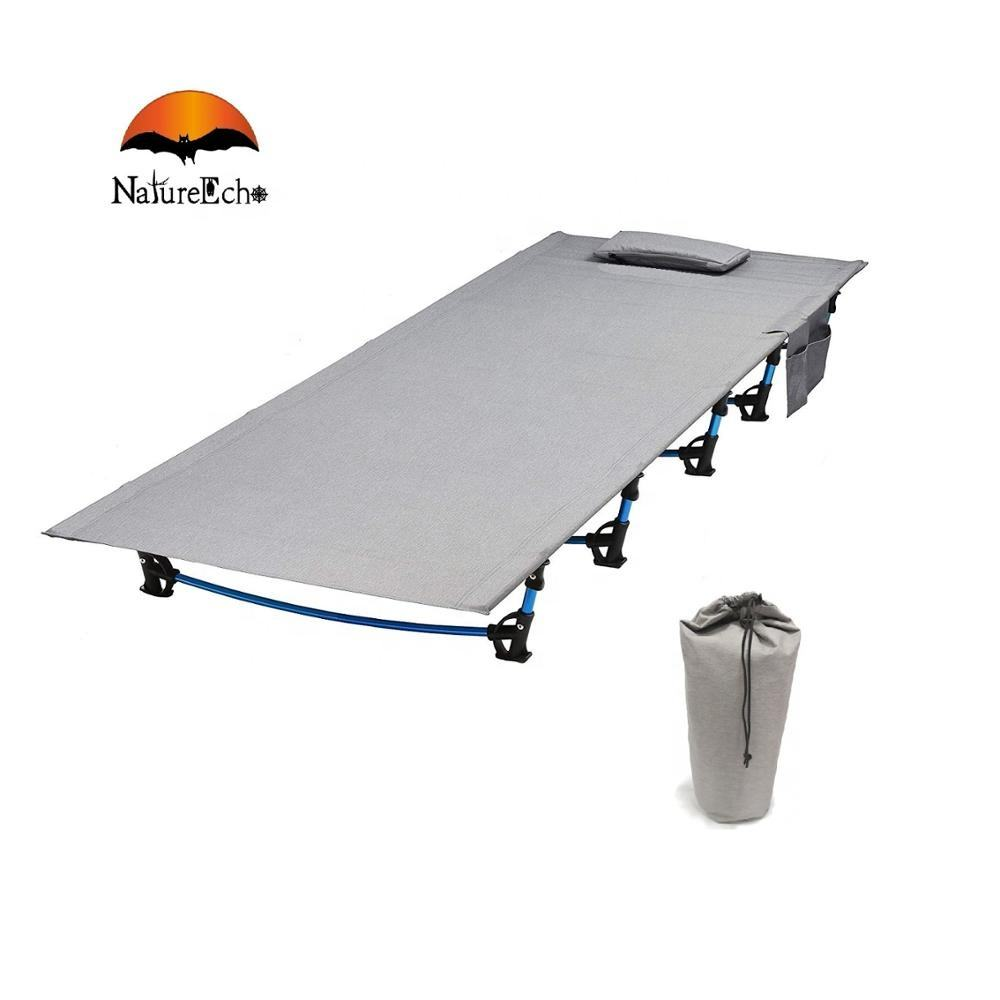 NatureEcho Ultralight Portable Aluminum Adult Army Folding Camping Cot Sleeping Bunk Bed For Tent