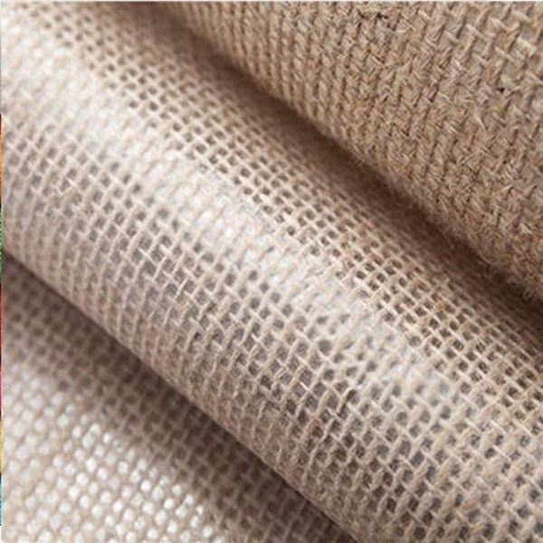 Wholesale 100% natural laminated jute fabric,waterproof burlap , eco-friendly hessian hemp PE laminated fabric